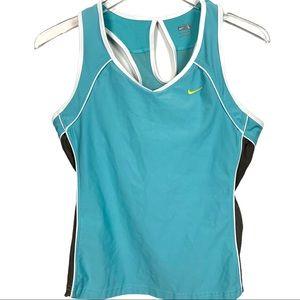 Nike Razor Back Built-In Bra Athletic Top Size L